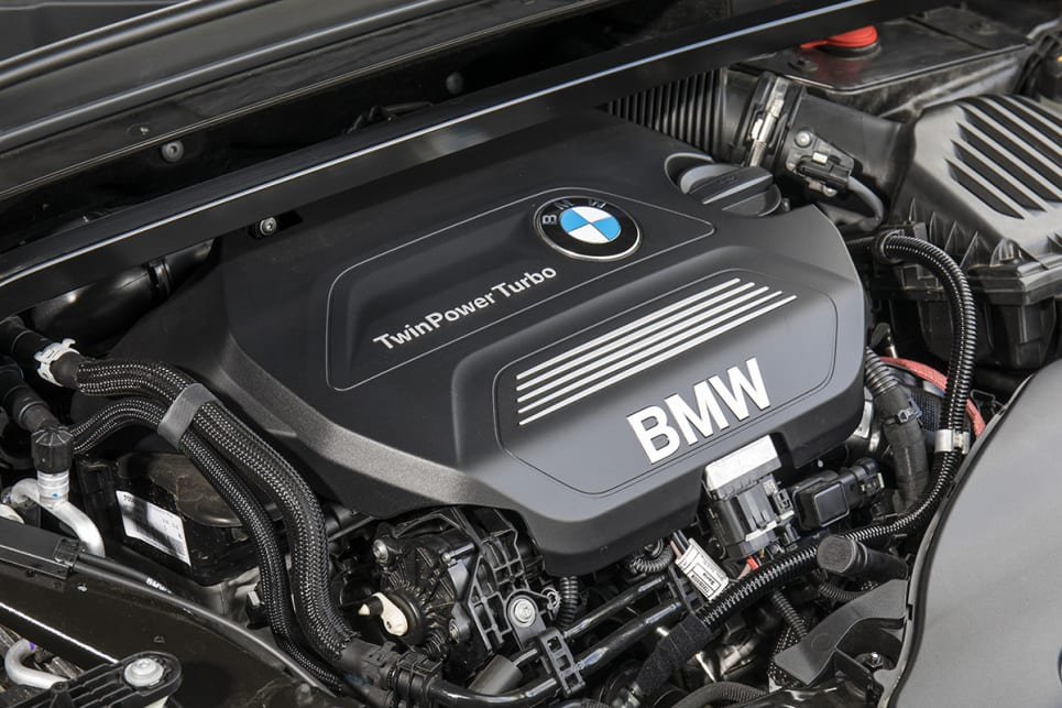 The BMW has a 2.0L turbo-diesel.