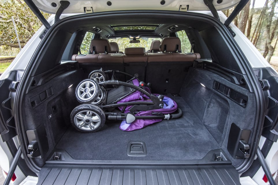 The BMW's boot is narrow and deep, and there's a smaller load space