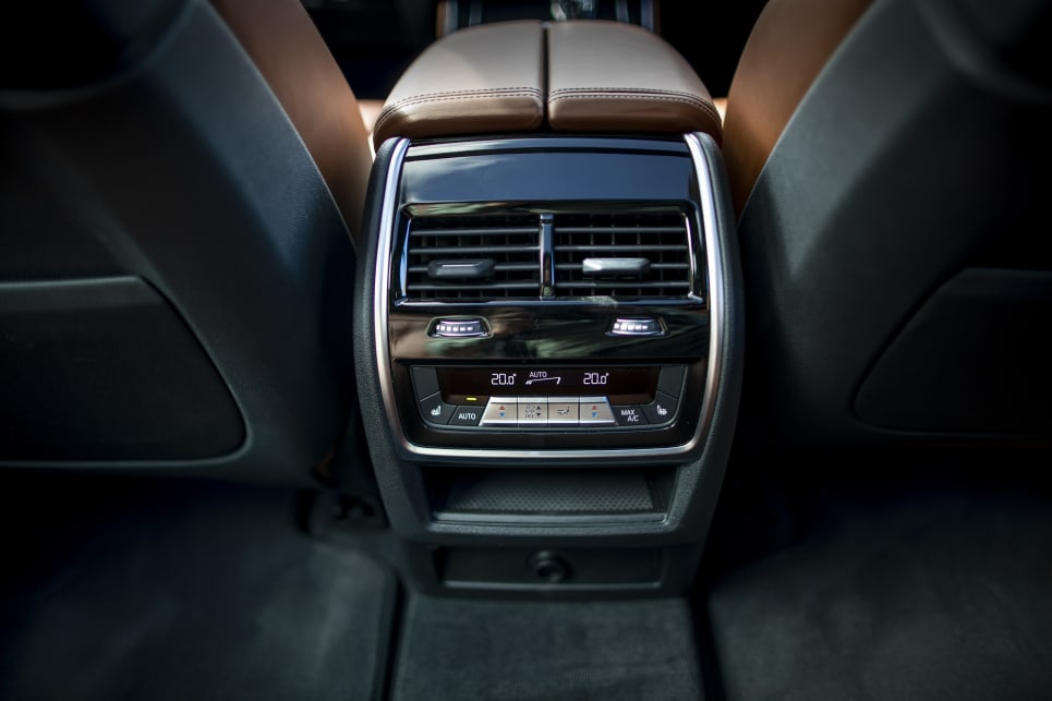 The X5's second row can be optioned with heated seats.