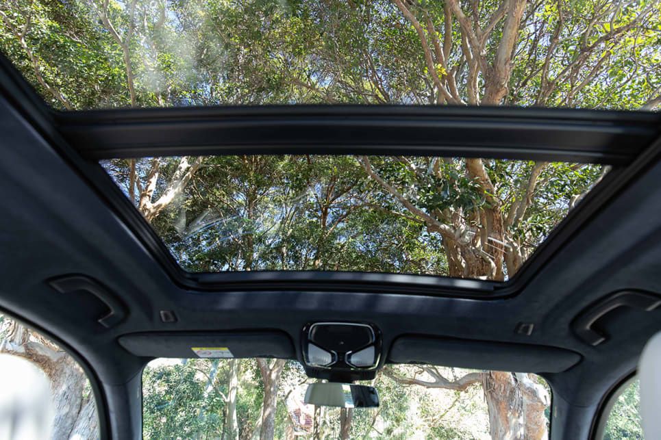 The X7 has a lot of headroom, even with the panoramic sunroof that extends all the way down to the last row. (image: Dean McCartney)