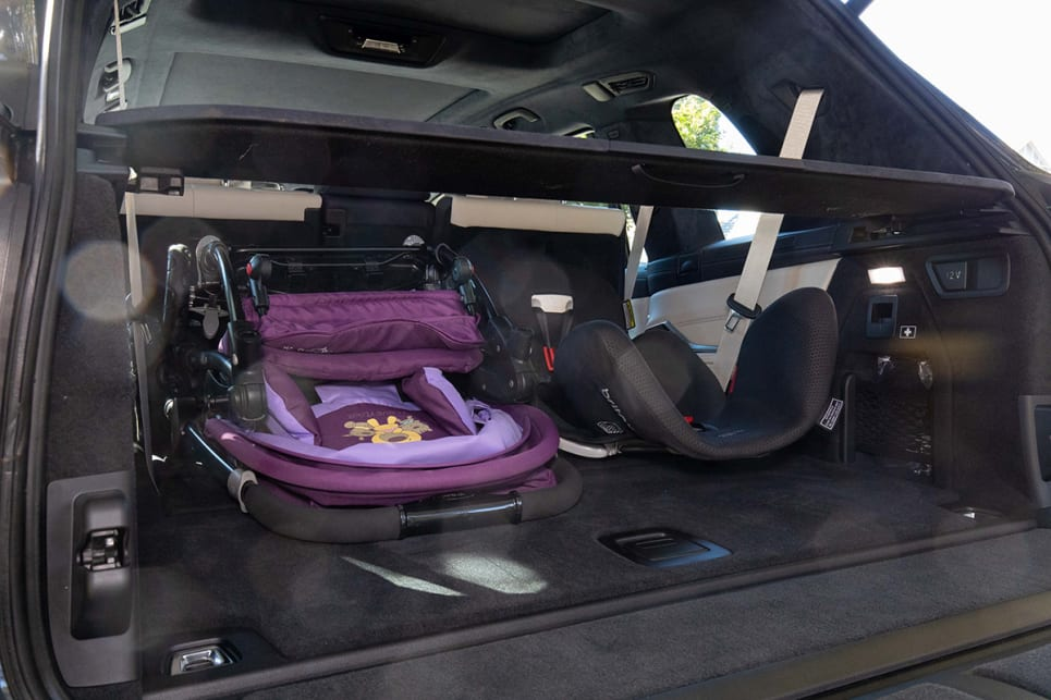 With the last row down, there is a huge 750L of space. Enough to fit a double pram with room to spare for extras. (image: Dean McCartney)