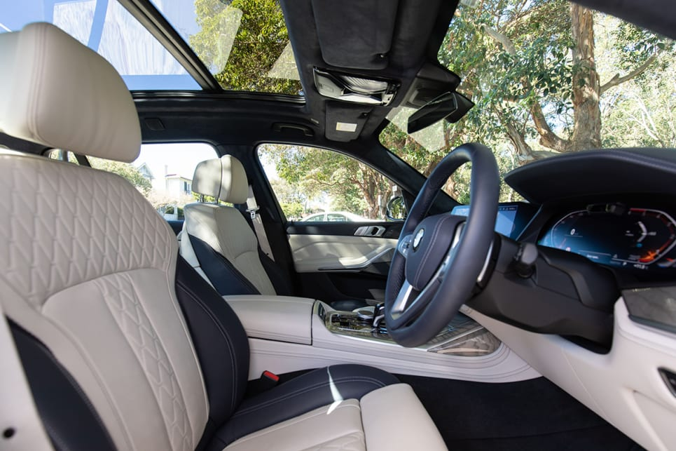 The seats are power adjustable with memory settings, which you'll make good use of if there are a few people who drive the car. (image: Dean McCartney)