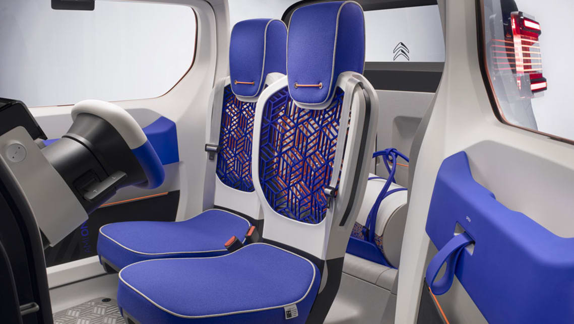 There are also mesh seats for the driver and passenger.