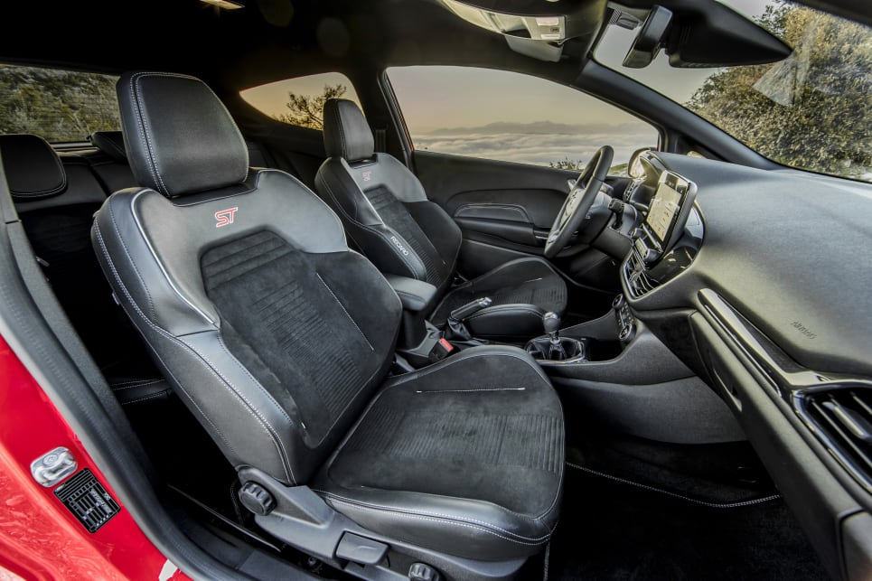 The seats in the test vehicles were Recaro buckets, which may be a little tight at the base for broader-hipped individuals. (Overseas model pictured)