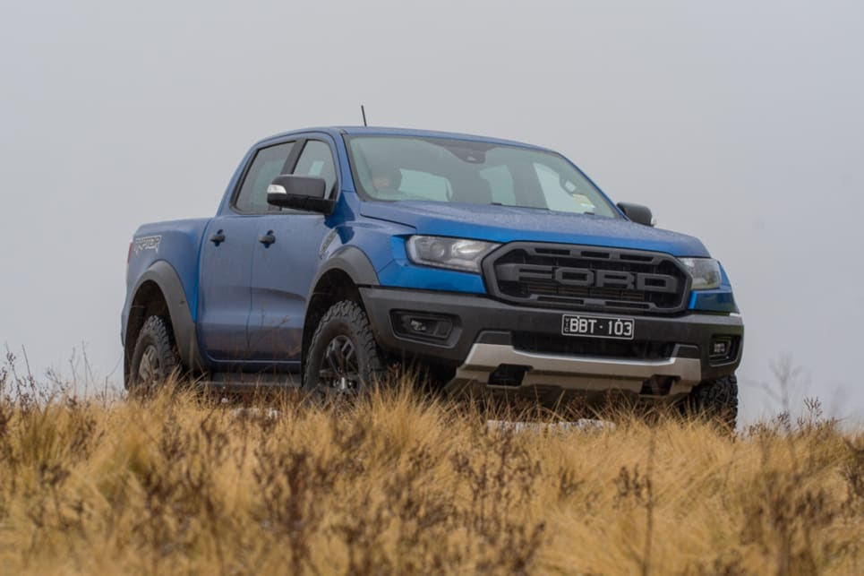 The Raptor is bigger and bulkier than both of its rivals in this test. (image: Brendan Batty)