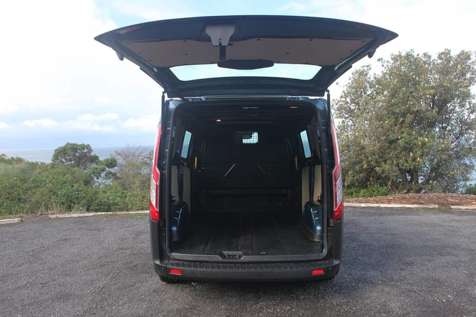 There is a claimed 7.2 cubic metres of load space in the short-wheelbase Transit Custom.