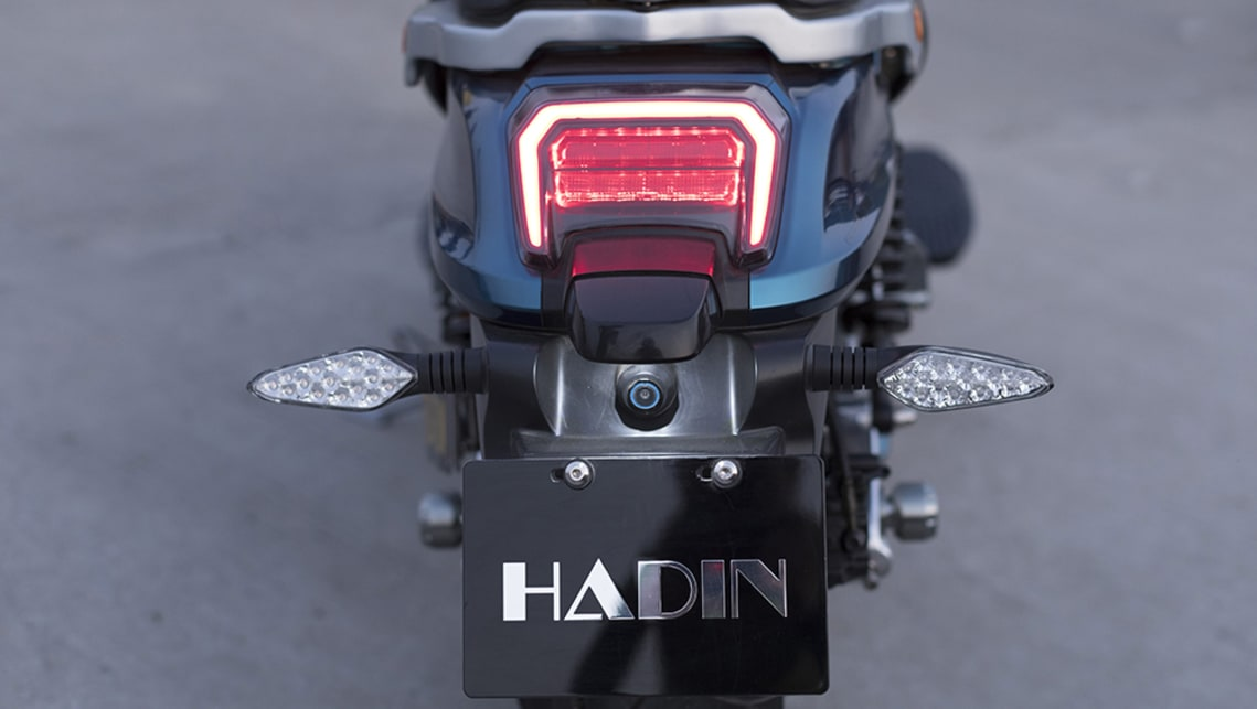 The Hadin Panther electric bike has futuristic looks and high-tech powerplant.