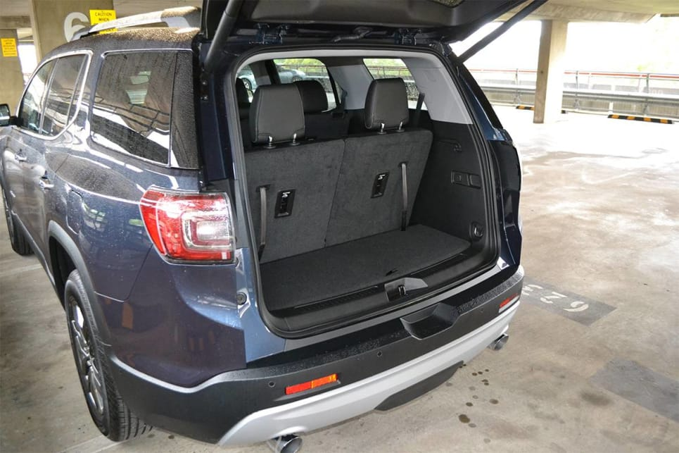 With all seven seats in place the Acadia has a cargo capacity of 292 litres.