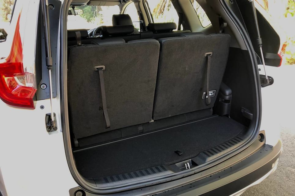 Boot size of the CR-V VTi-E7 with all seats in place is 150 litres (VDA).