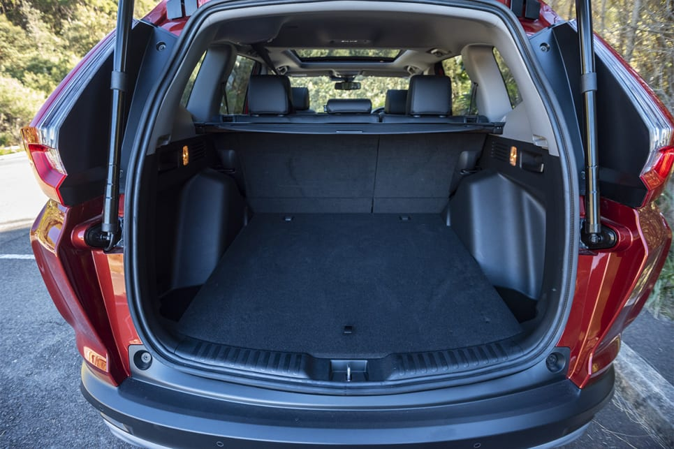 With the rear seats in place, the CR-V has 522 litres (VDA) of boot space. (image credit: Dean McCartney)