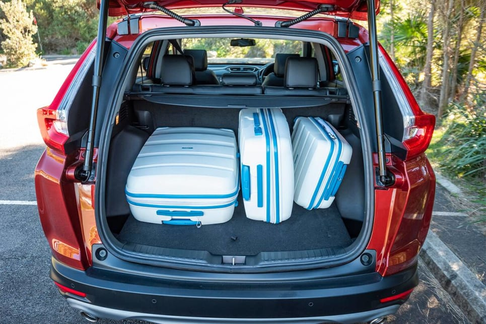 The CR-V easily swallowed our three suitcases. (image credit: Dean McCartney)
