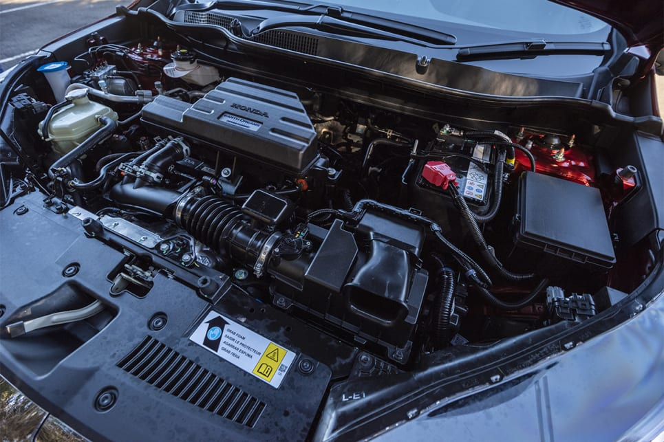 Under the bonnet of the CR-V is a 1.5-litre turbo engine making 140kW/240Nm. (image credit:  Dean Johnson)