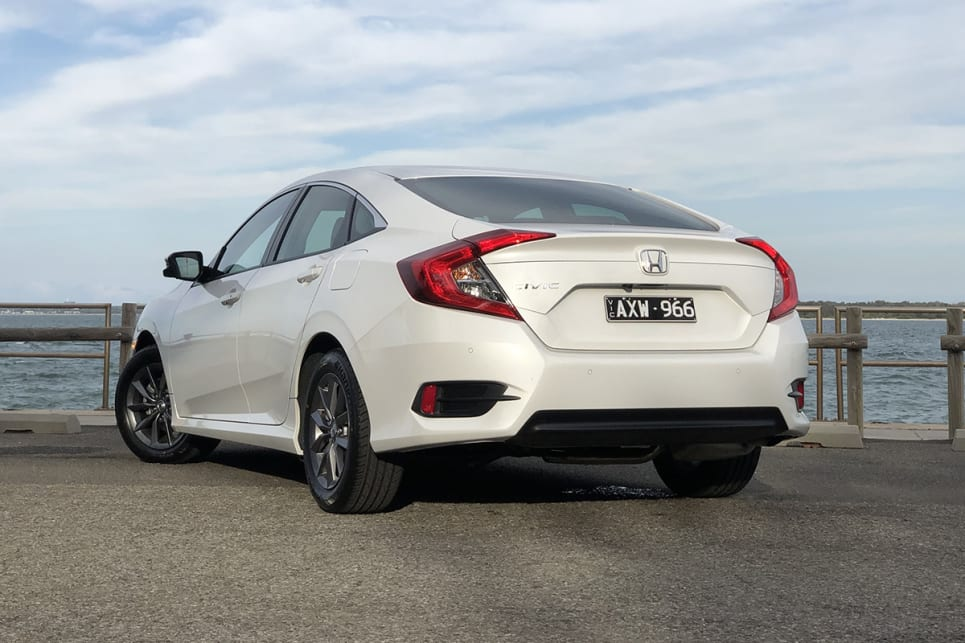 The Civic is still not the easiest car in the world to look at when you're front or rear on. (image: Peter Anderson)