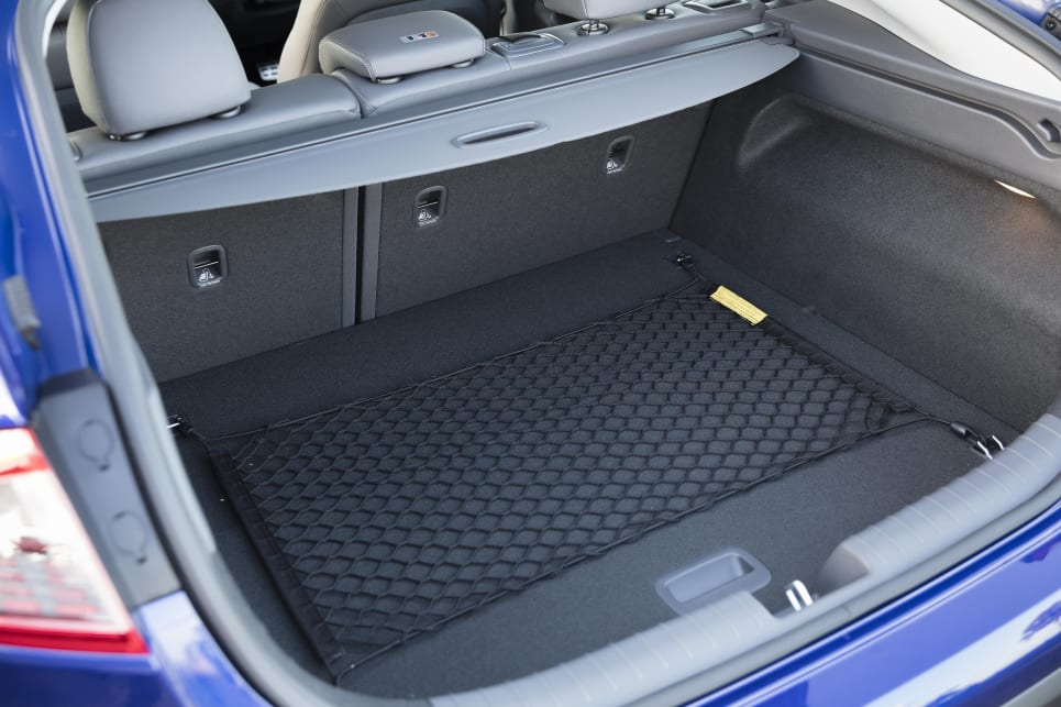 Storage space is 456, 341, and 350 litres for the Hybrid, Plug-in, and electric models respectively. (Electric variant shown)
