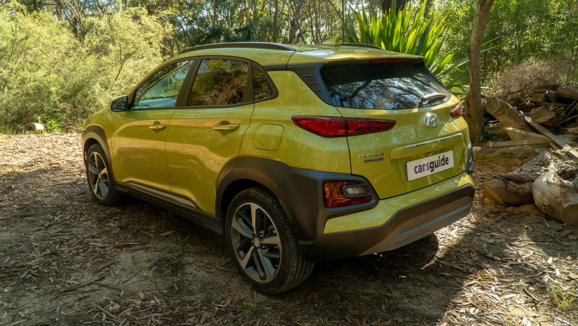 The Kona is designed to generate admiring glances. I reckon that acid yellow paint job helps out a fair bit too.
