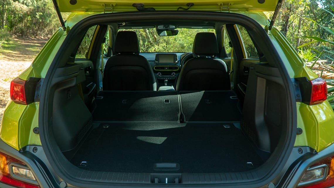 With the seats out of the way, cargo space expands to 1143 litres.