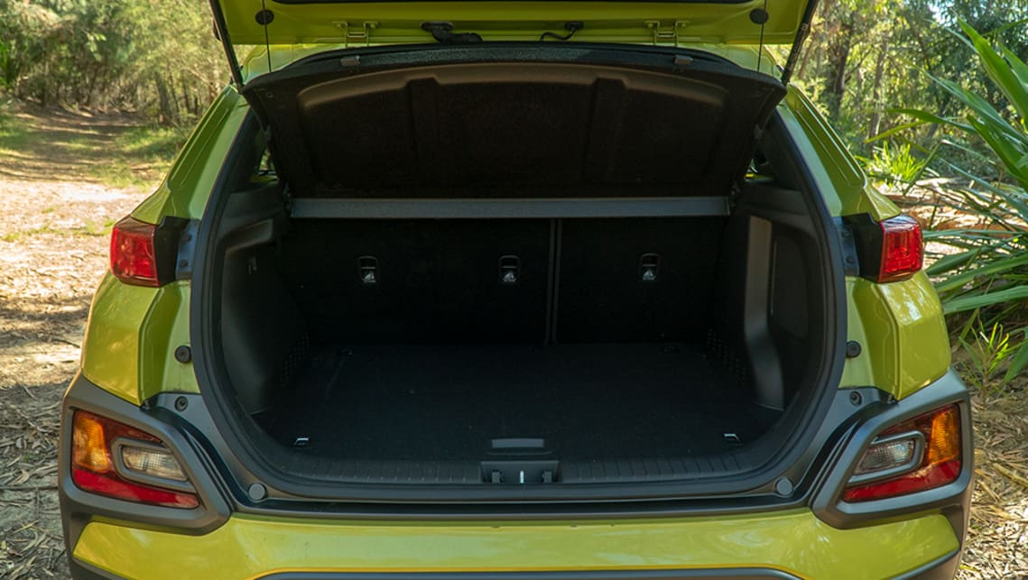 There's 361 litres with the seats up – that's enough to fit two camp chairs and a bit of other stuff.