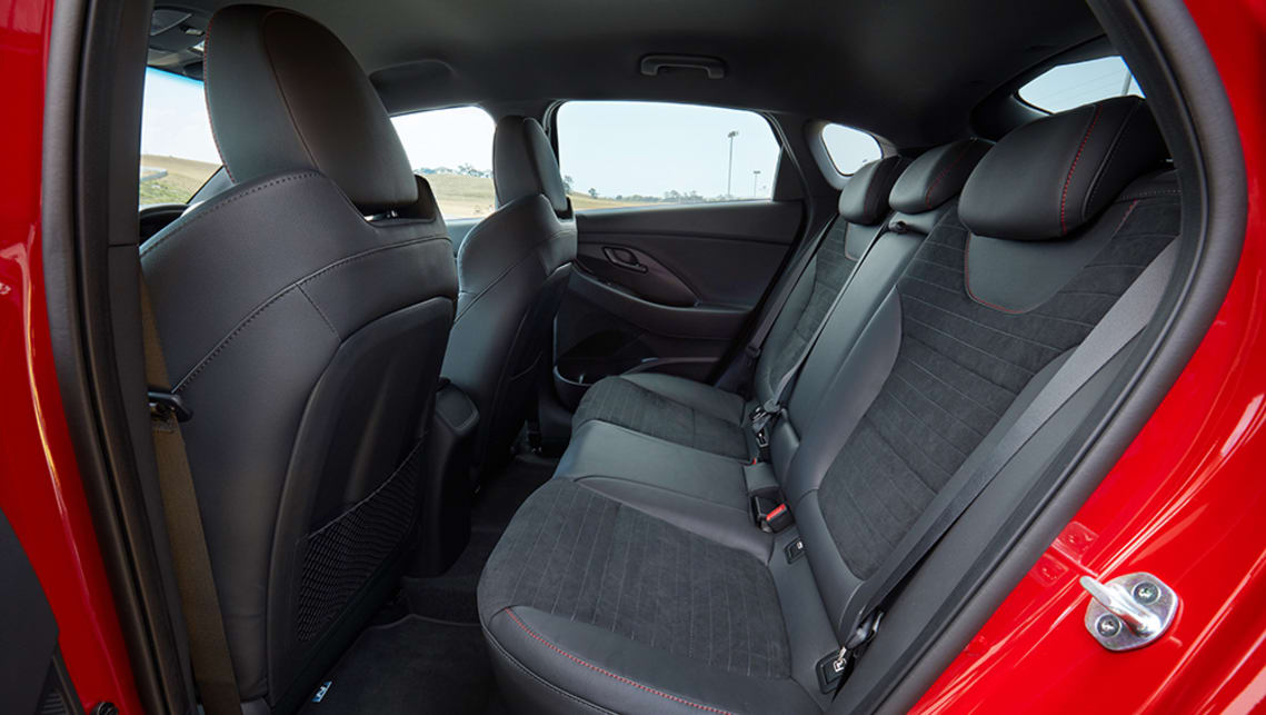 The back seats of all so-called 'five-door coupes' are typically less comfortable than they could be, and the i30 Fastback N slots into that category, too. (luxury pack pictured)