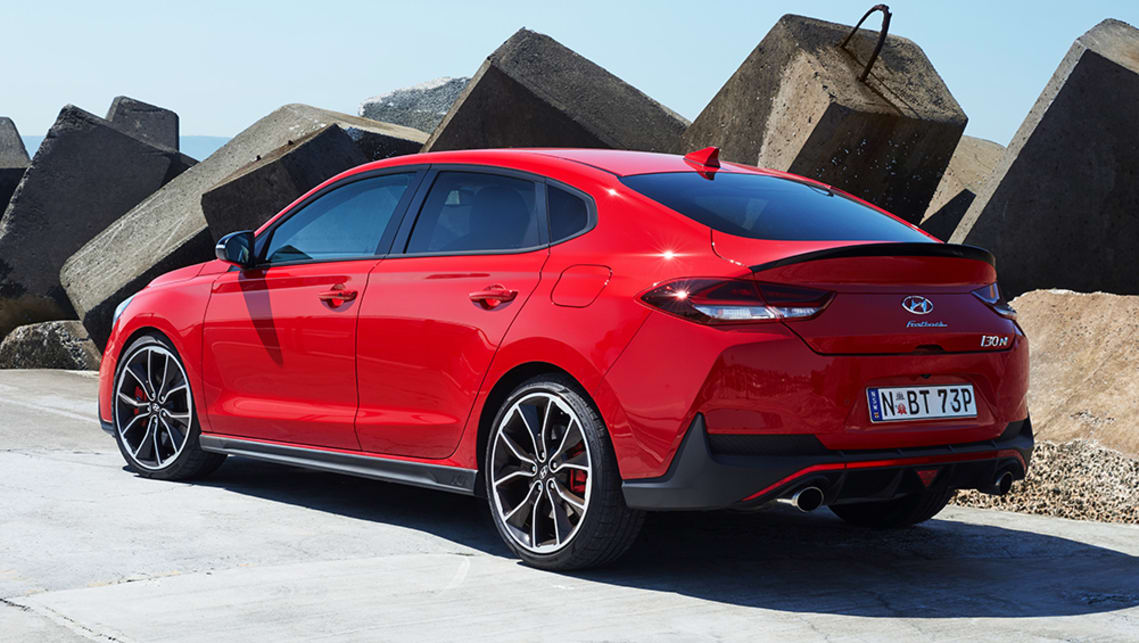 Overall, the Fastback is 120mm longer (4455mm) and 28mm lower (1417mm) than the hatchback model. (luxury pack pictured)