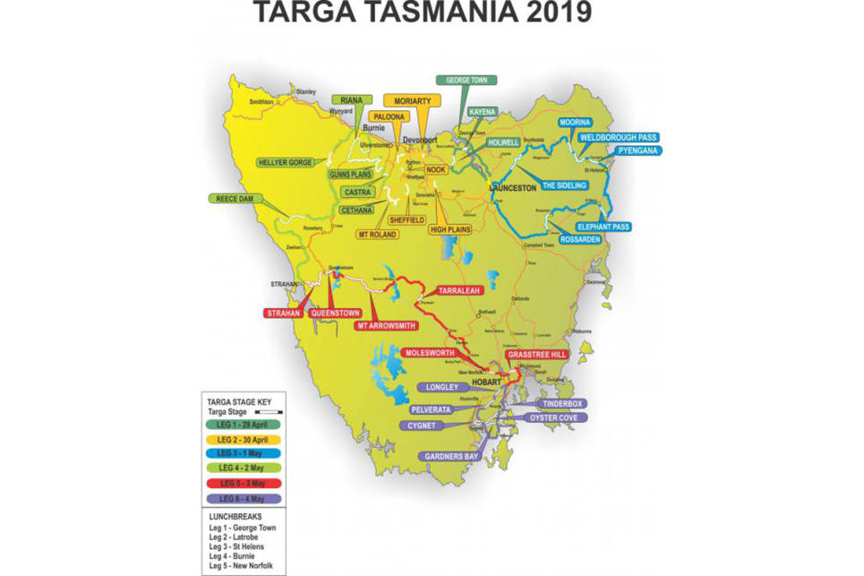 Launceston in Tassie's north-east is the hub for the first half of Targa week.