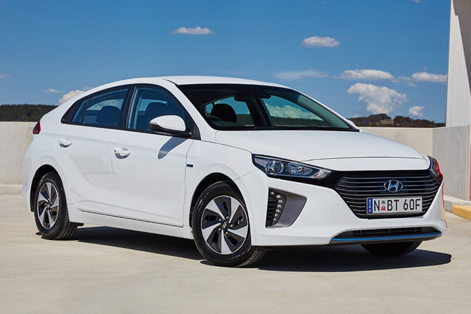 The range kicks off with the Ioniq Hybrid, powered by a 77kW/147Nm, four-cylinder petrol engine.