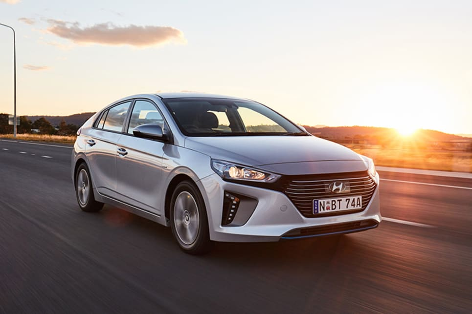 The Ioniq Plug-in's default mode is electric drive with the internal combustion engine kicking in as required.