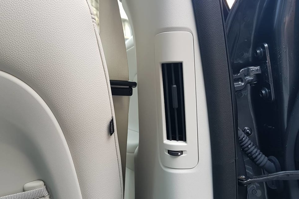 The I-Pace has rear air vents located to the side.