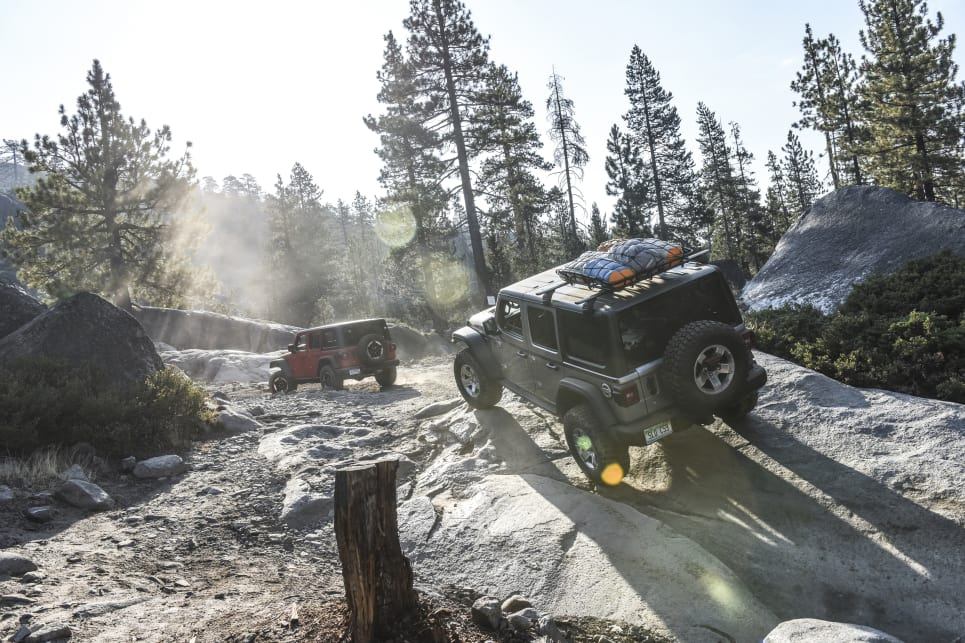 Auto-equipped Rubicons feature an excellent 77.2:1 crawl ratio tailored for tackling challenges just like the Rubicon Trail.