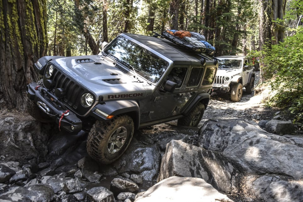 The Rubicon's front bumper corners might be overkill, but they'd probably remove themselves going down the trail.