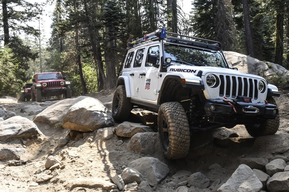 The most telling element with the Wrangler is the chattering and feedback through the steering wheel over bumps.