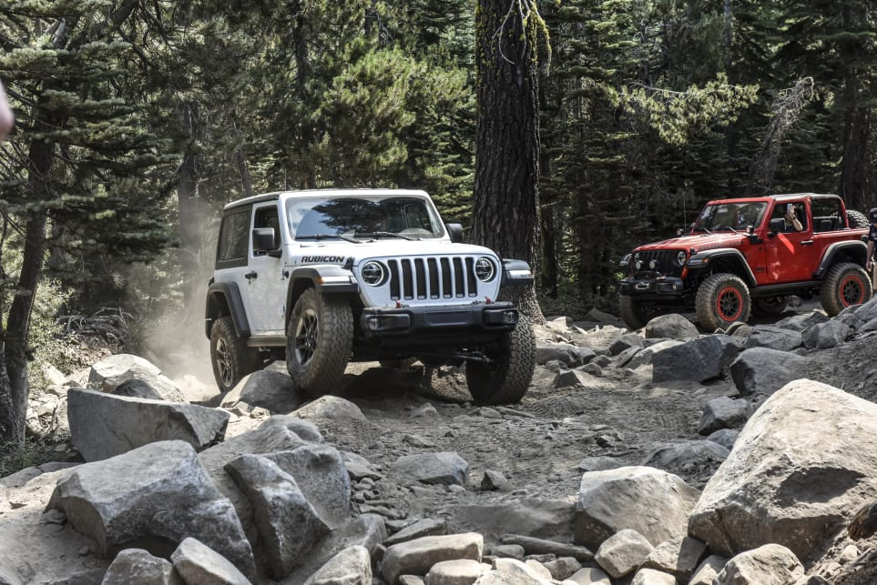The chassis grazed against obstacles numerous times, but Jeep prepared the Wrangler beforehand.
