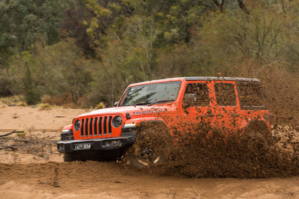 Constant-pace driving on sand, almost floating across the surface of it, is easily achieved in the Rubicon. (image: Brendan Batty)