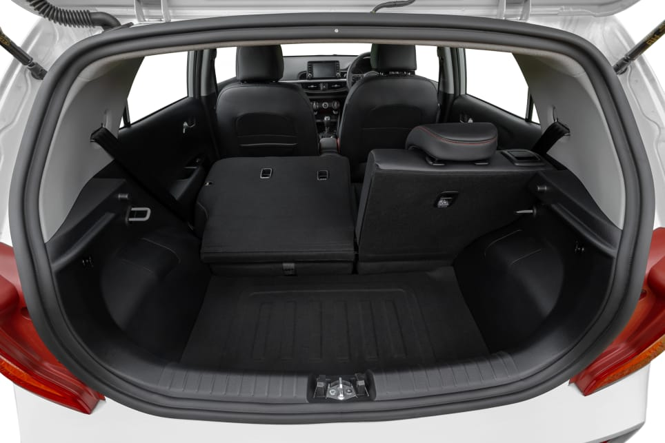 The Picanto GT's boot has a cargo capacity of 255 litres, which is the biggest in the class.