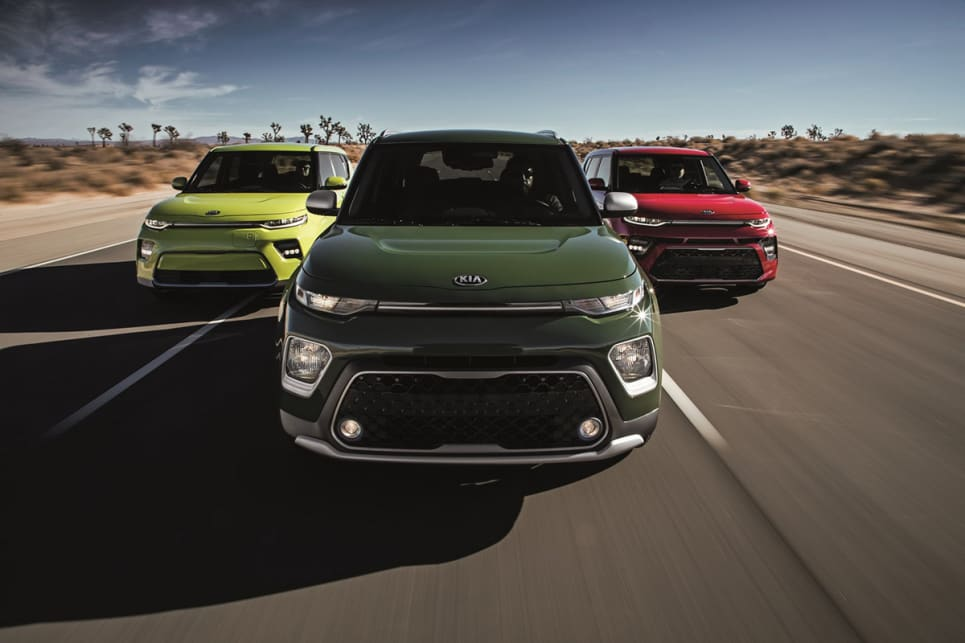 Kia Soul 2019 model (From left to right: The EV, X-Line and GT-Line)
