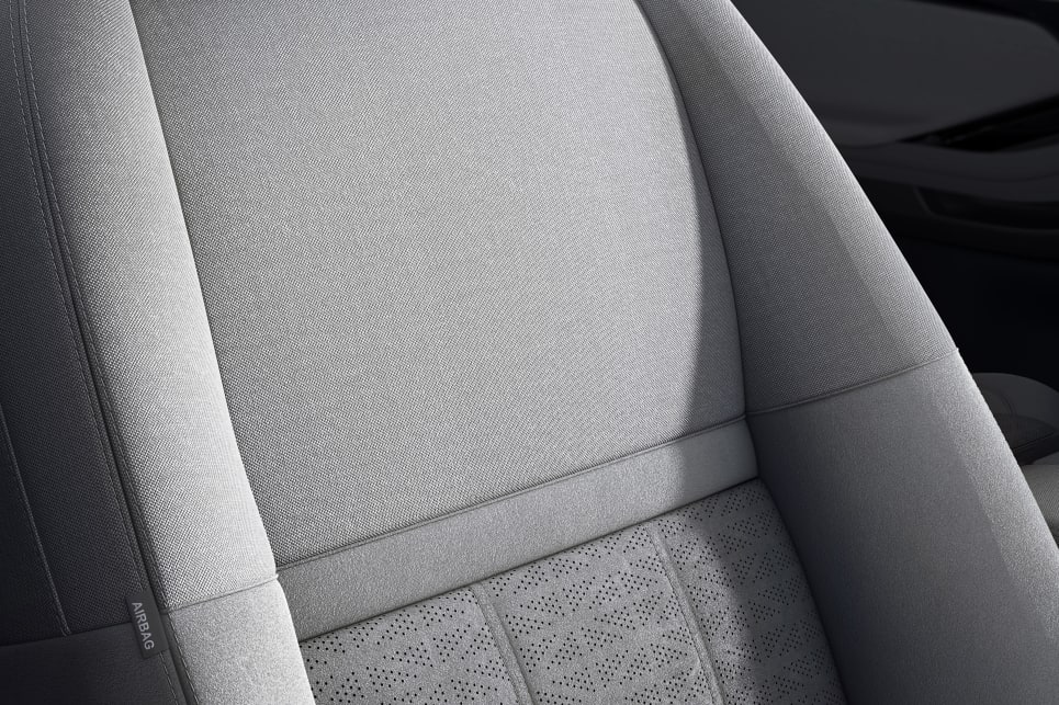 The Evoque's seats feature a union jack pattern.