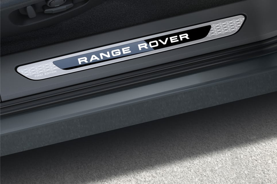 'Range Rover' plates can be found on the car's door sills.