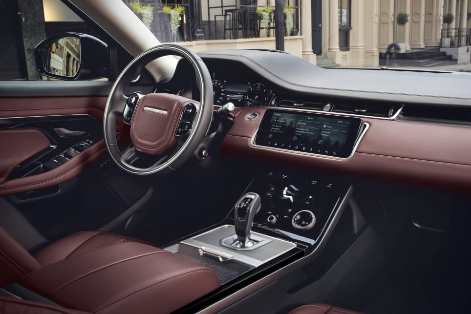 The Evoque also comes with a 12.3-inch instrument display in front of the driver.