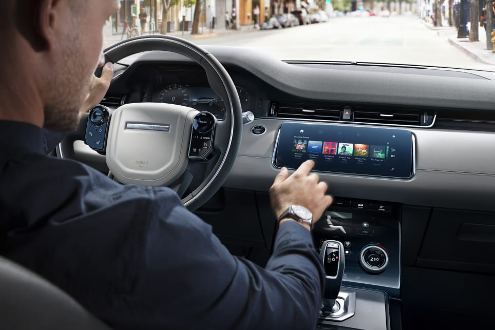There are big changes inside the cabin, with a dashboard design familiar to that of other Range Rover products in recent times.