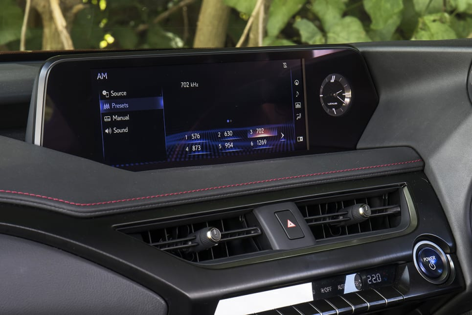 The Lexus' stereo was not bad, but its media interface is terrible.