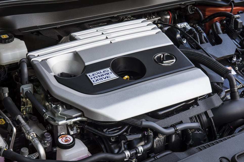 The Lexus has a 2.0L petrol-electric hybrid.