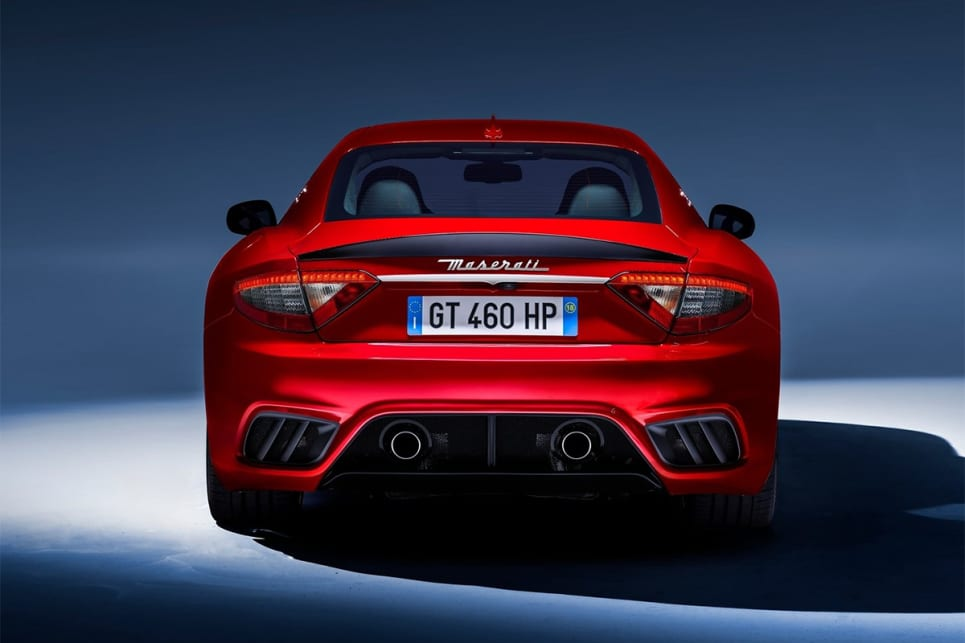 It also has a bespoke rear bumper with central exhaust outlets. (GranTurismo MC international variant pictured)