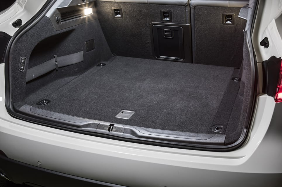 The Levante's cargo capacity is 580 litres (with second row seats up) which is on the small side.