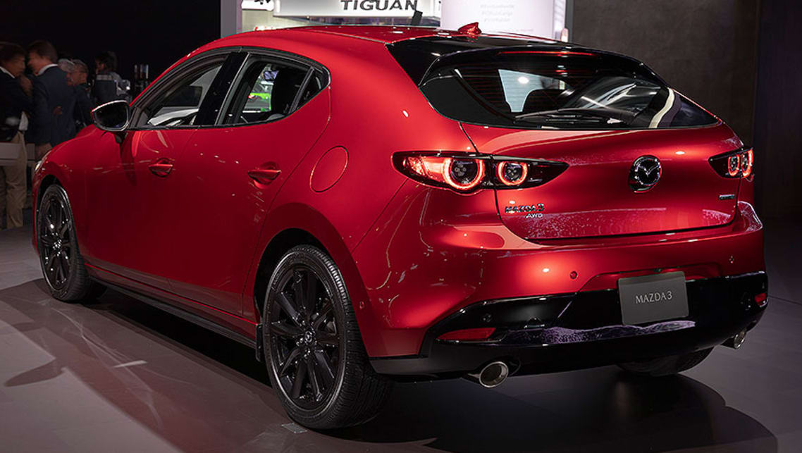 The Mazda3 hatch's new roofline has resulted in a 2cm reduction in rear headroom, while its storage space has also decreased.