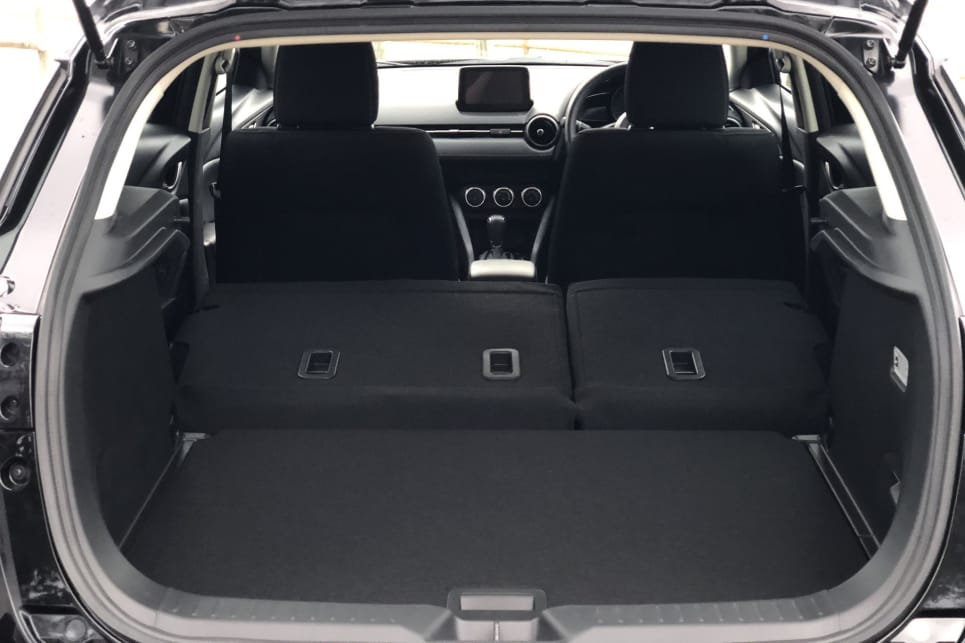 Fold down the rear seats and the boot space grows to 1174L (VDA).