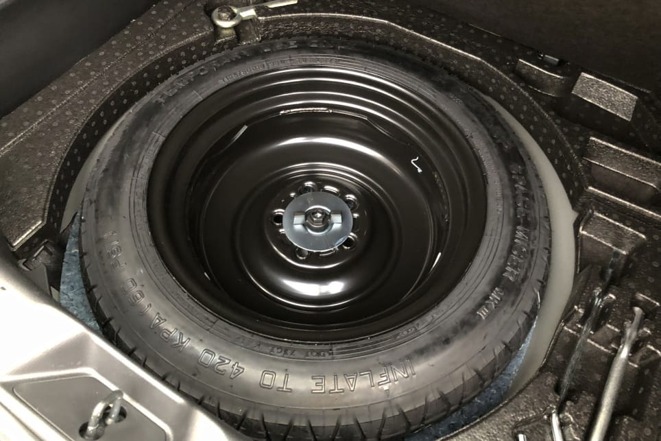 The CX-3 comes with a temporary space-saver spare wheel.
