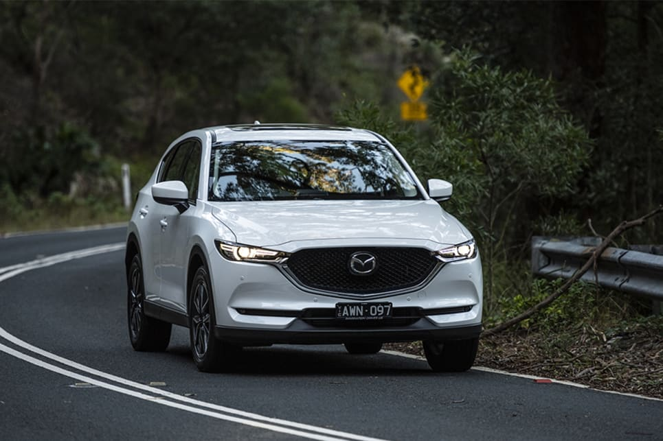 In our hill climb test, the CX-5 fell short for grip - the tyres simply didn't hang on very well. (image credit: Dean Johnson)