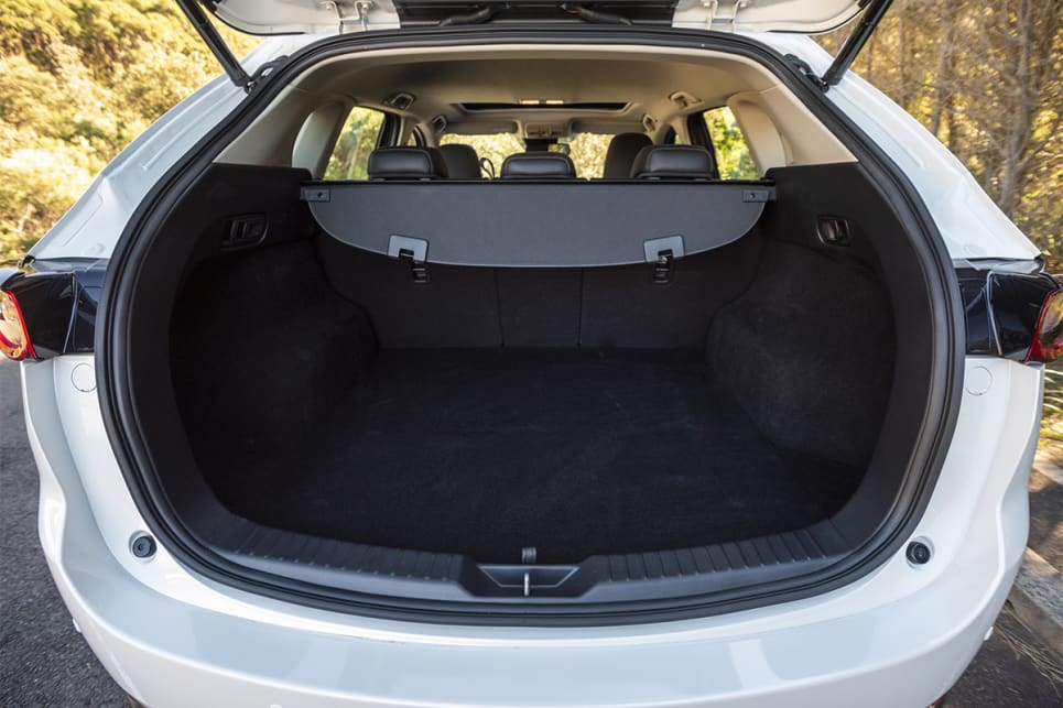 Cargo space in the CX-5 is rated at 442 litres VDA. (image credit: Dean McCartney)