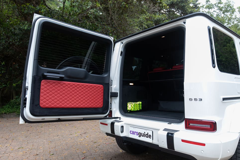 The single-piece rear door hinges vertically and opens from right to left. (image credit: Dean McCartney)