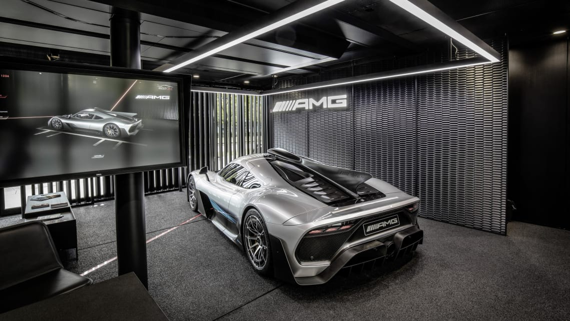 Prospective buyers have been given the chance to 'drive' the car in Mercedes-AMG's mobile 'The Future of Driving Performance' showroom.