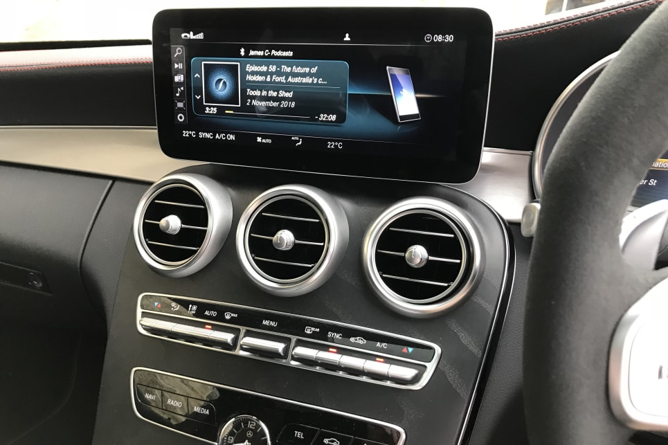 The C 43 comes with a 10.3-inch media display, DAB+ digital radio, Bluetooth connectivity, and sat nav.